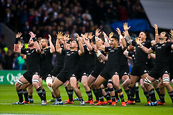 New Zealand All Blacks perform The Haka ahead of facing England - Mandatory by-line: Robbie Stephenson/JMP - 10/11/2018 - RUGBY - Twickenham Stadium - London, England - England v New Zealand - Quilter Internationals