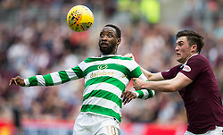 Celtic's Moussa Dembele (left) and Hearts John Souttar (right) during the Ladbrokes Scottish Premiership match at Tynecastle Stadium, Edinburgh.