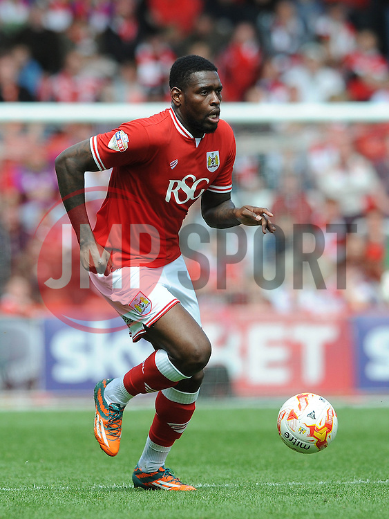 Bristol City's Jay Emmanuel-Thomas - Photo mandatory by-line: Dougie Allward/JMP - Mobile: 07966 386802 - 03/05/2015 - SPORT - Football - Bristol - Ashton Gate - Bristol City v Walsall - Sky Bet League One
