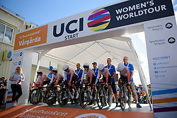 Rabo Liv get their countdown as they look to defend the title they won in 2015 on the 42,5 km team time trial of the UCI Women's World Tour's 2016 Crescent Vårgårda Team Time Trial on August 19, 2016 in Vårgårda, Sweden. (Photo by Sean Robinson/Velofocus)