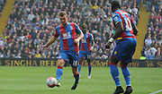 James McArthur plays a ball to Yannick Bolasie during the Barclays Premier League match between Crystal Palace and West Bromwich Albion at Selhurst Park, London, England on 3 October 2015. Photo by Michael Hulf.