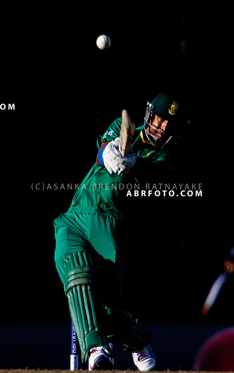 Robin Pietersen batting during the ICC world Twenty20 Cricket held in Sri Lanka.
