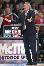 02.03.2014, ENERVIE Arena, Hagen, GER, Beko Basketball BL, Phoenix Hagen vs FC Bayern Muenchen, 24. Runde, im Bild Coach / Trainer Svetislav Pesic (FC Bayern Muenchen) // during the Beko Basketball Bundes league 24th round match between Phoenix Hagen and FC Bayern Munich at the ENERVIE Arena in Hagen, Germany on 2014/03/02. EXPA Pictures © 2014, PhotoCredit: EXPA/ Eibner-Pressefoto/ Schueler<br /> <br /> *****ATTENTION - OUT of GER*****