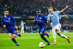 February 21, 2019 - London, Great Britain - 190221 N'Golo Kante of Chelsea and SÅ¡ren Rieks of MalmÅ¡ FF during the Europa league match between Chelsea and MalmÅ¡ FF on February 21, 2019 in London..Photo: Petter Arvidson / BILDBYRN / kod PA / 92228 (Credit Image: © Petter Arvidson/Bildbyran via ZUMA Press)