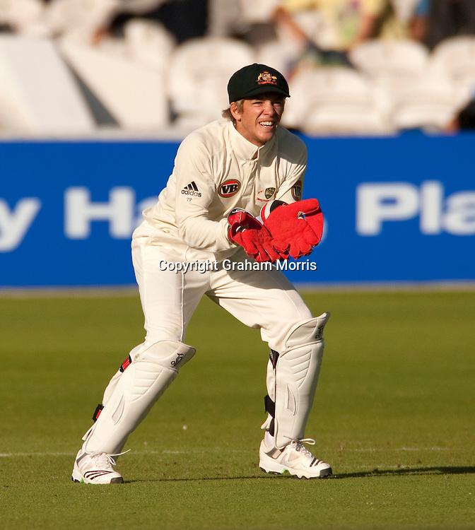 Australian wicket keeper Tim Paine. Photo: Graham Morris (Tel: +44(0)20 8969 4192 Email: sales@cricketpix.com) 16/07/10