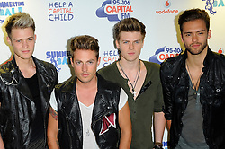 Capital Summertime Ball<br /> Lawson during photocall ahead of performing at the Capital Summertime Ball, Wembley Stadium,<br /> London, United Kingdom<br /> Sunday, 9th June 2013<br /> Picture by Chris  Joseph / i-Images
