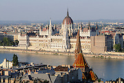 parliament,budapest, capital city of hungary by the river danube