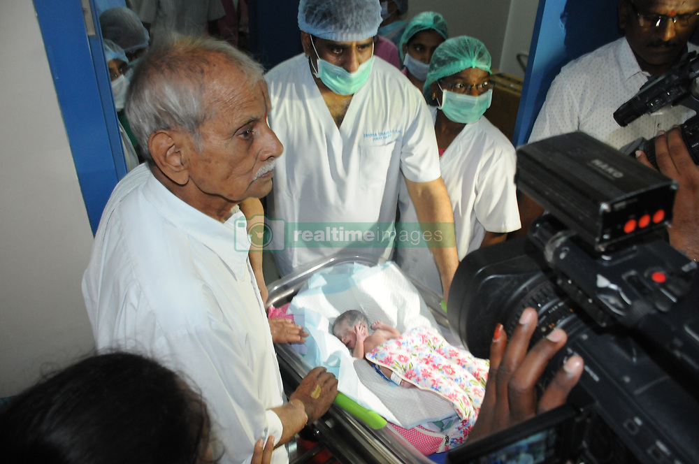 """EXCLUSIVE: Erramatti Mangayamma, 73, was so desperate and determined to have a baby that she 'underaged herself' to avoid the chances of being ruled out for the IVF treatment. """"She lied about her age to avail the treatment. But after fact-checking with her husband and kin, who in turn submitted her school records, we discovered that she was born on September 1, 1946. And we got to know about this after she conceived,"""" said Dr. S Umashankar, who headed the team of doctors at Ahalya Nursing Home in the southern Indian Andhra Pradesh state's Guntur town. The doctors told the family that they have to live in the hospital during the entire course of pregnancy. """"I told her husband that I cannot let you go home as they would jeopardise our treatment plan,"""" said Dr Uma Shankar. Erramatti and her husband were fine with that arrangement. """"But we didn't know how to organise funds for such a pro-longed treatment and stay at the hospital.It was then the hospital administration told us that we don't need to worry about the expenses as the entire cost of treatment would be borne by the hospital trust,"""" said the new mother. The hospital authorities knew that they were staring at an even bigger challenge after they discovered that woman was carrying twins. It was a double whammy for the team. First the woman was 73 and not 65 as claimed by her and secondly, she had conceived twins. """"We formed three teams for her. One to look at her nutrition status, second one looked at her cardiac and other health parameters and the third one looked into her pregnancy status,"""" said Dr Uma Shankar. So finally six-decade-long wait came to end. Mangayamma gave birth to two healthy baby girls on Sept. 5 morning. """"Now, no one call me sterile. I thank god and the doctors who have this possible,"""" said an emotional Erramatti struggling to hold back her tears. Hailing from Nelapartipadu village in East Godavari district, Mangayamma was childless after 54 years of marriage. Sh"""