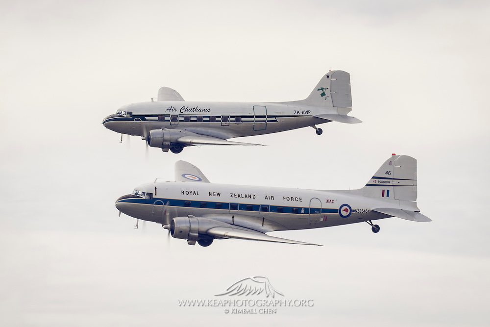 A pair of DC3's at Warbirds over Wanaka 2016, New Zealand