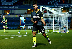 Dominic Telford of Bristol Rovers celebrates scoring a goal to make it 1-1 - Mandatory by-line: Robbie Stephenson/JMP - 29/08/2017 - FOOTBALL - Adam's Park - High Wycombe, England - Wycombe Wanderers v Bristol Rovers - Checkatrade Trophy