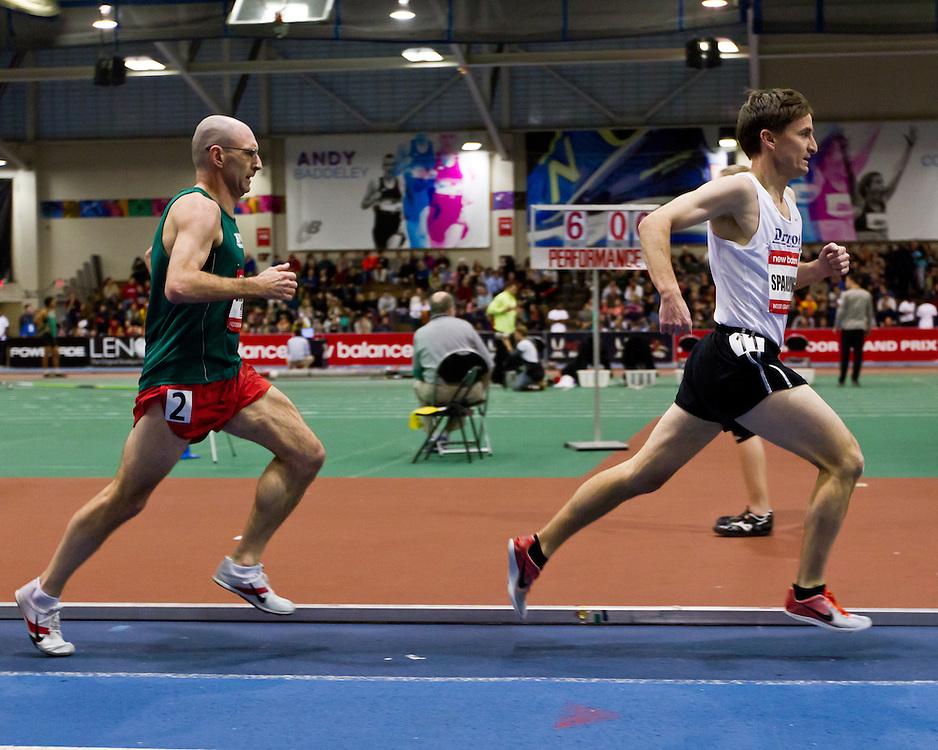 New Balance Indoor Grand Prix track meet: Men's Masters Mile, Andy Spaulding