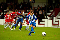 Photo: Alan Crowhurst.<br />Welling United v Clevedon Town. The FA Cup Qualifying. 28/10/2006. Clevedon's Leon Hapgood makes it 0-2 from the penalty spot.