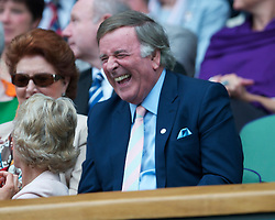 LONDON, ENGLAND - Monday, June 20, 2011: Broadcaster Terry Wogan during the Gentlemen's Singles 1st Round match on during day one of the Wimbledon Lawn Tennis Championships at the All England Lawn Tennis and Croquet Club. (Pic by David Rawcliffe/Propaganda)