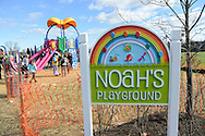Children play after the dedication of Noah's Playground  Saturday November 14, 2015 in Newtown, Pennsylvania. Noah's Playground, a project 5 years in the making is named for Noah Cohen, the son of Newtown Township residents Natalie and Jason Cohen who died in 2010 at age two months of Sudden Infant Death Syndrome. (Photo by William Thomas Cain)