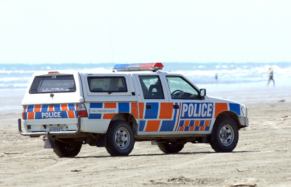 Police beach patrol, Waitarere, New Zealand, January 16, 2007. Credit:SNPA / Ross Setford