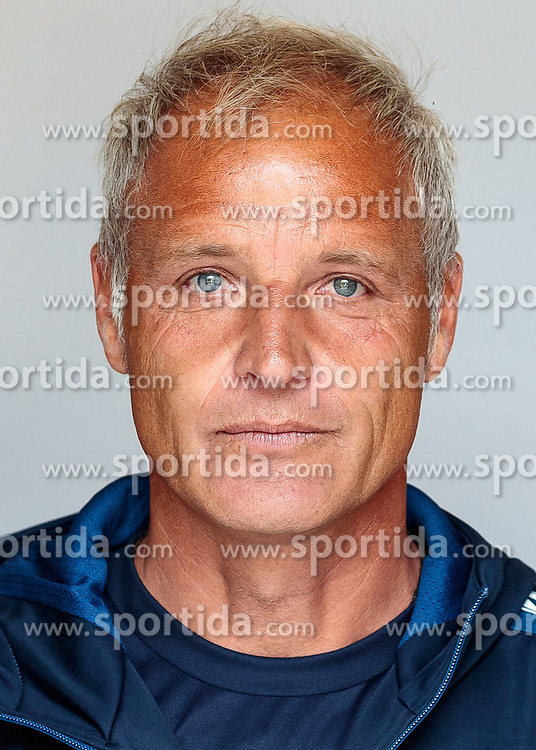 30.06.2017, Wolfsberg, AUT, 1. FBL, RZ Pellets WAC, Fototermin, im Bild Trainer Heimo Pfeiffenberger // during the official Team and Portrait Photoshooting of Austrian Bundesliga Club RZ Pellets WAC at the Wolfsberg, Austria on 2017/06/30. EXPA Pictures © 2017, PhotoCredit: EXPA/ Johann Groder