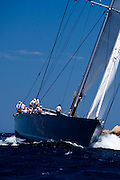 Saudade sailing in the Loro Piana Superyacht Regatta, day 3.