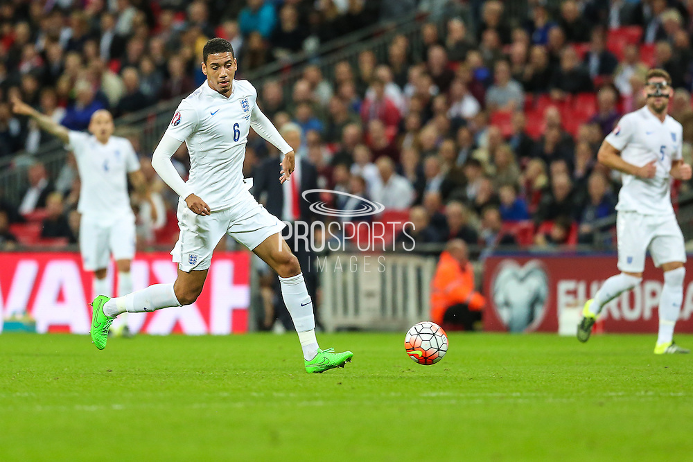 England's Chris Smalling during the UEFA European 2016 Qualifying match between England and Switzerland at Wembley Stadium, London, England on 8 September 2015. Photo by Shane Healey.