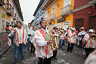 During the parade of folk groups, 3 January