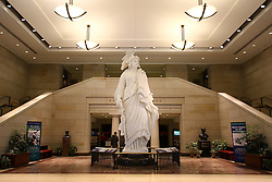THEMENBILD - Eine Gipskopie der Statue of Freedom im Untergeschoss der Emancipation Hall. Reisebericht, aufgenommen am 12. Jannuar 2016 in Washington D.C. // A plaster copy of the Statue of Freedom in the basement of Emancipation Hall. Travelogue, Recorded January 12, 2016 in Washington DC. EXPA Pictures © 2016, PhotoCredit: EXPA/ Eibner-Pressefoto/ Hundt<br /> <br /> *****ATTENTION - OUT of GER*****