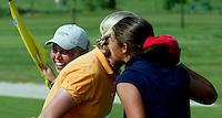 AMBT-DELDEN - Winnaar Marjet van der Graaff (r) NK Matchplay golf op de Twentsche GC. COPYRIGHT KOEN SUYK