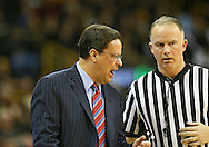 December 31 2012: Indiana Hoosiers head coach Tom Crean talks with an official during the first half of the NCAA basketball game between the Indiana Hoosiers and the Iowa Hawkeyes at Carver-Hawkeye Arena in Iowa City, Iowa on Monday December 31, 2012. Indiana defeated Iowa 69-65.