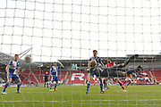 Rotherham United player Michael Smith (24) scores goal to go 2-0 during the EFL Sky Bet League 1 match between Rotherham United and Bristol Rovers at the AESSEAL New York Stadium, Rotherham, England on 18 January 2020.