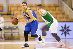 Miljan Pavkovic of KK Sencur GGD during basketball match between KK Krka and KK Sencur GGD in 1st Semifinal of Slovenian Spar Cup 2017/18, on February 16, 2018 in Sports hall Tivoli, Ljubljana, Slovenia. Photo by Urban Urbanc / Sportida