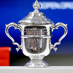 Illustration Trophy during the Women's Singles finals match on Day Thirteen of the Us Open 2017 at USTA Billie Jean King National Tennis Center on September 8, 2017 in New York City. (Photo by Marek Janikowski/Icon Sport)