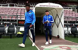 Rollin Menayese of Bristol Rovers and Ollie Clarke of Bristol Rovers arrive at Sixfields for the Sky Bet League One fixture against Northampton Town - Mandatory by-line: Robbie Stephenson/JMP - 07/10/2017 - FOOTBALL - Sixfields Stadium - Northampton, England - Northampton Town v Bristol Rovers - Sky Bet League One