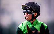 Jockey Eddy Lai at morning Barrier Trails at Happy Valley Racecourse on January 20, 2018 in Happy Valley Hong Kong. (Photo: Alex Evers)