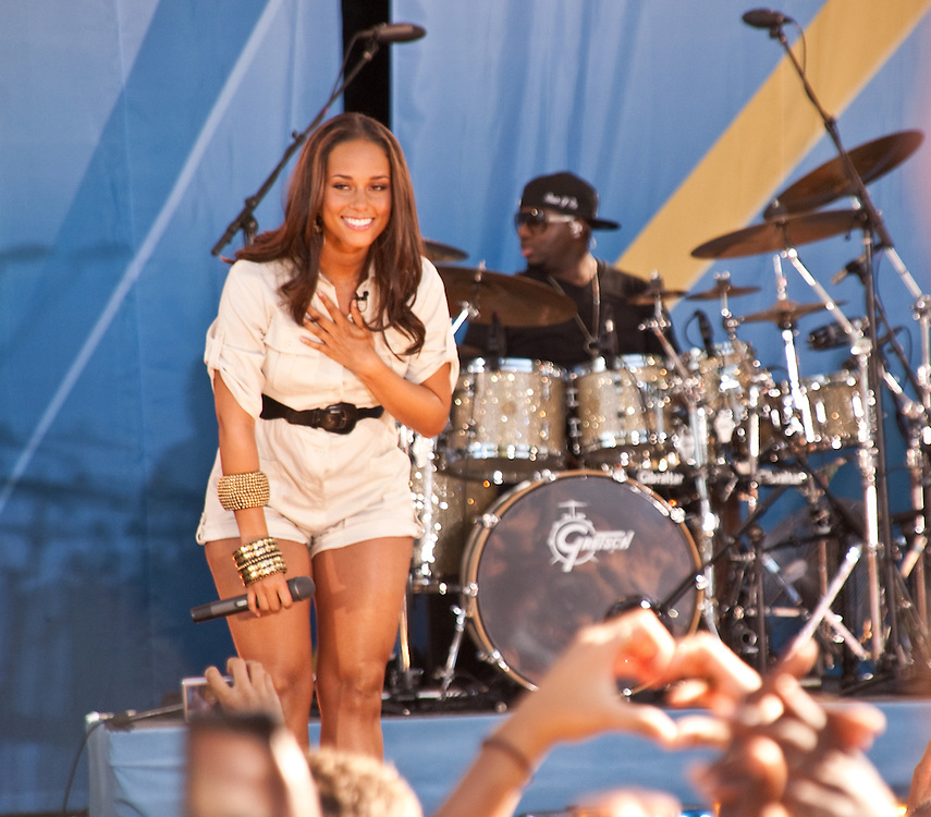 Alicia Keys on Summerstage in New York City