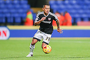Brentford defender Nico Yennaris  during the Sky Bet Championship match between Bolton Wanderers and Brentford at the Macron Stadium, Bolton, England on 30 November 2015. Photo by Simon Davies.