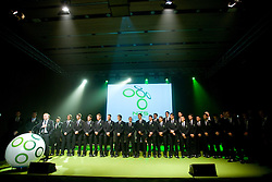 Matjaz Kek and players at official presentation of Slovenian National Football team for World Cup 2010 South Africa, on May 21, 2010 in Congress Center Brdo at Kranj, Slovenia. (Photo by Vid Ponikvar / Sportida)