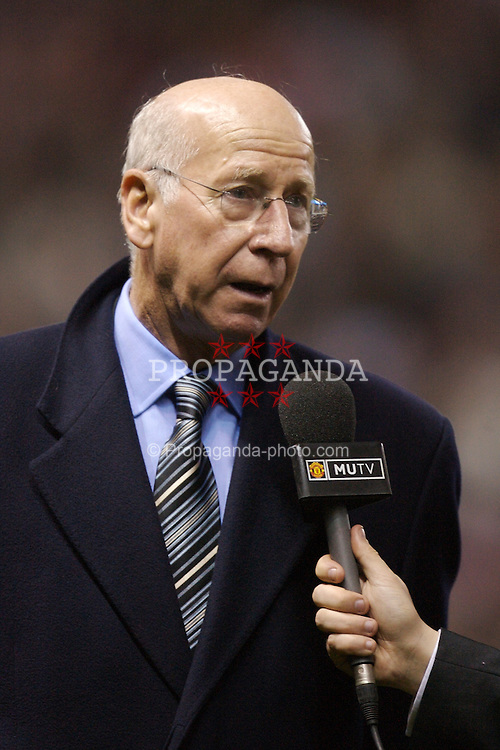 Manchester, England - Tuesday, March 13, 2007: Former Manchester United player Bobby Charlton during the UEFA Celebration Match at Old Trafford. (Pic by David Rawcliffe/Propaganda)