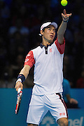 Japan's Kei Nishikori during first day of the Barclays ATP World Tour Finals at the O2 Arena, London, United Kingdom on 9 November 2014. © Phil Duncan | Pro Sports Images