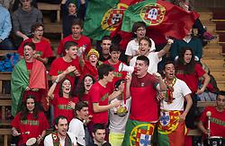 April 7, 2018 - Stockholm, SVERIGE - 180407 Portugals hejaklack under tennismatchen i Davis Cup mellan Sverige och Portugal den 7 april 2018 i Stockholm  (Credit Image: © Jesper Zerman/Bildbyran via ZUMA Press)