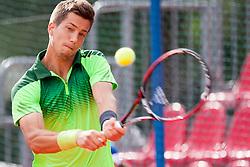 Aljaz Bedene of Slovenia during a tennis match against the Andrej Martin of Slovakia  in 1st round of singles at 25th Vegeta Croatia Open Umag, on July 21, 2014, in Stella Maris, Umag, Croatia. Photo by Urban Urbanc / Sportida
