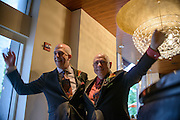 Photo by Matt Roth<br /> Assignment ID: 30148071A<br /> <br /> David Hagedorn, left, a chef and food writer, and Michael Widomski, right, a spokesman for the National Weather Service, are introduction during their wedding reception at Fiola Restaurant in Washington, DC, Sunday, September 22, 2013.