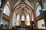 Meißen, Altstadt, Liebfrauenkirche innen, Sachsen, Deutschland. .old town of Meissen, church of Our Lady, Saxony, Germany.
