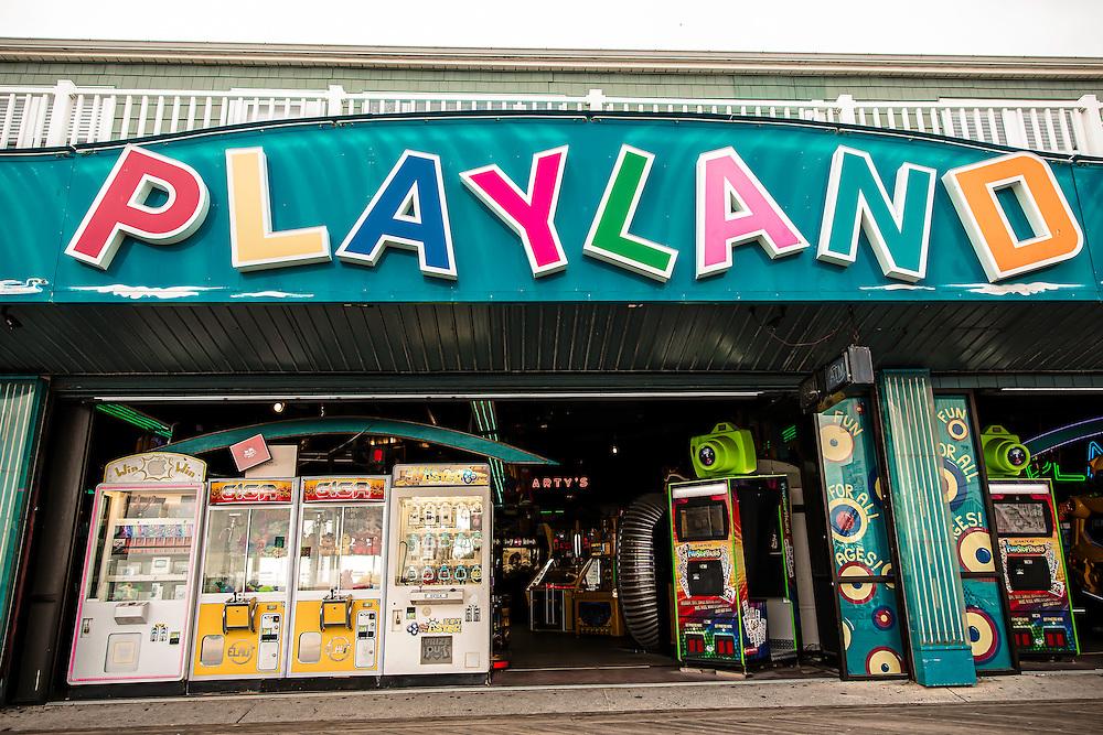 Vintage arcade on boardwalk, in Ocean City, Maryland. Copyright 2016 Reid McNally.