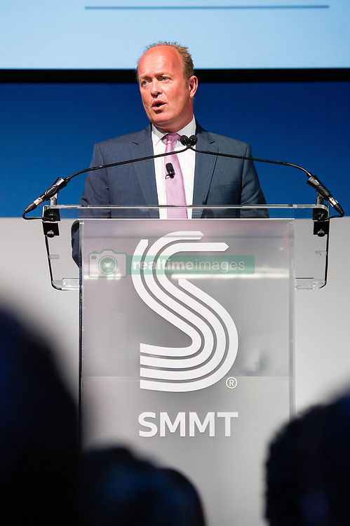 EDITORIAL USE ONLY<br /> Jeremy Hicks, MD UK, Jaguar Land Rover, speaks about diesel at the Society of Motor Manufacturers and Traders (SMMT) International Automotive Summit conference at The Institute of Engineering and Technology in London.