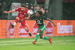 24-01-2018 NED: FC Utrecht - Feyenoord, Utrecht<br /> Utrecht speelt 1-1 gelijk tegen Feyenoord / FC Utrecht midfielder Zakaria Labyad #10, Feyenoord defender Tyrell Malacia #35