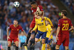 September 12, 2017 - Rome, Italy - Juan Jesus of Roma and Antoine Griezmann of Atletico  during the UEFA Champions League Group C football match between AS Roma and Atletico Madrid on September 12, 2017 at the Olympic stadium in Rome. (Credit Image: © Matteo Ciambelli/NurPhoto via ZUMA Press)