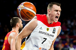 Johannes Voigtmann of Germany reacts during basketball match between National Teams of Germany and Spain at Day 13 in Round of 16 of the FIBA EuroBasket 2017 at Sinan Erdem Dome in Istanbul, Turkey on September 12, 2017. Photo by Vid Ponikvar / Sportida