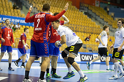 Savo Slavuljica of Serbia during handball match between National teams of Serbia and Germany in Main Round of 2018 EHF U20 Men's European Championship, on July 25, 2018 in Arena Zlatorog, Celje, Slovenia. Photo by Urban Urbanc / Sportida