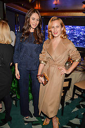 Left to right, OLGA KURYLENKO and CHARLOTTE DELLAL at a dinner hosted by Creme de la Mer to celebrate the launch of Genaissance de la Mer The Serum Essence held at Sexy Fish, Berkeley Square, London on 21st January 2016.