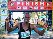 MOSSEL BAY, SOUTH AFRICA - SEPTEMBER 23: Jari Munyarodzi (winner) during the PetroSA Marathon hosted by Athletics South Western Districts (SWD) on September 23, 2017 in Mossel Bay, South Africa. (Photo by Roger Sedres/ImageSA)