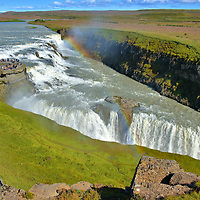 Panoramic View of Gullfoss on Golden Circle, Iceland<br />