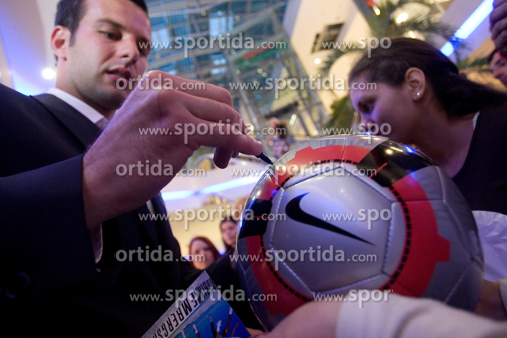 Samir Handanovic of Slovenian National Football team at presentation of  official Dirk  Bikkembergs fashion collection, on May 20, 2010 in Ciytpark, BTC, Ljubljana, Slovenia. (Photo by Vid Ponikvar / Sportida)